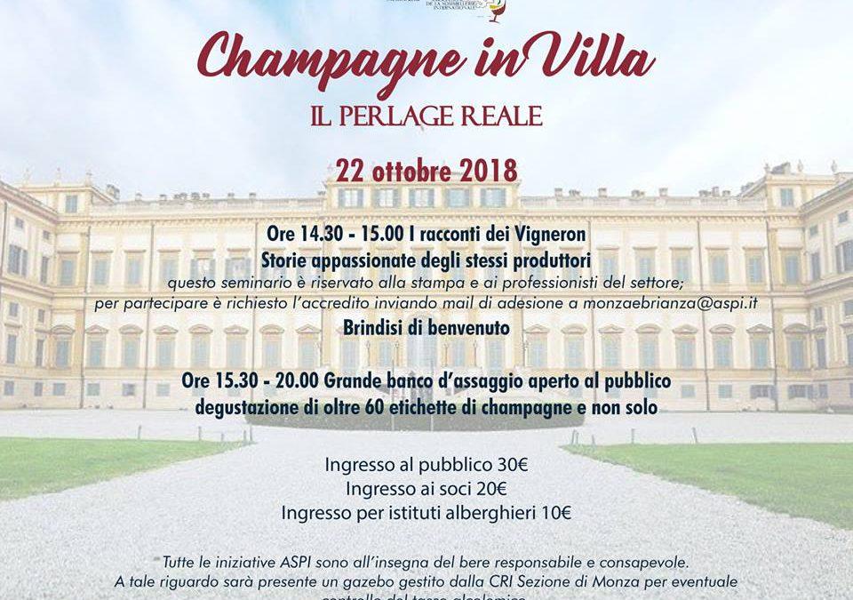 """""""Champagne in villa. Il perlage reale"""""""